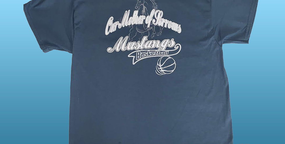 OMOS Full Court Press! Mustang Spirit Basketball T-Shirt