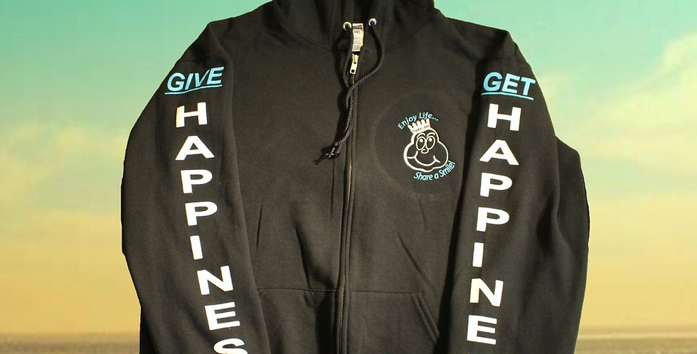 """""""Give Happiness - Get Happiness"""" Hoodie"""