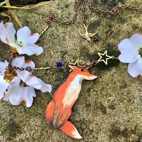 Woodland Fox Necklace