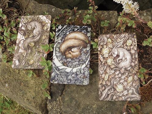 Oak, Ash & Thorn Wooden Magnet Set