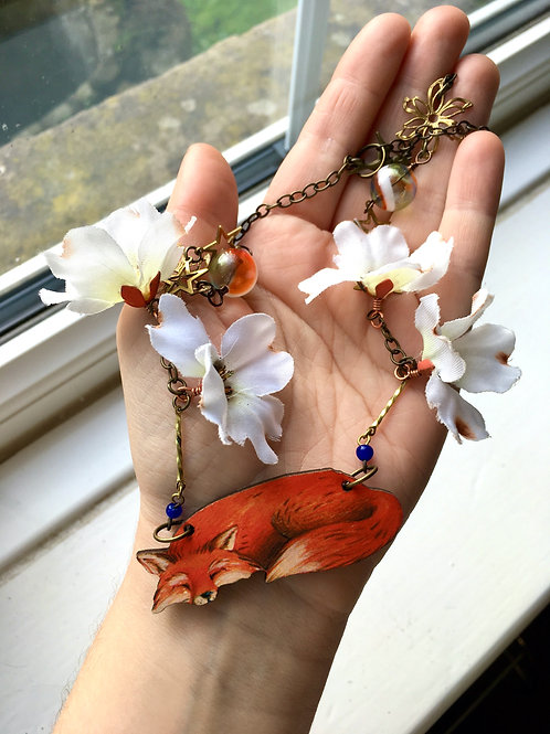 Sleepy Fox Necklace