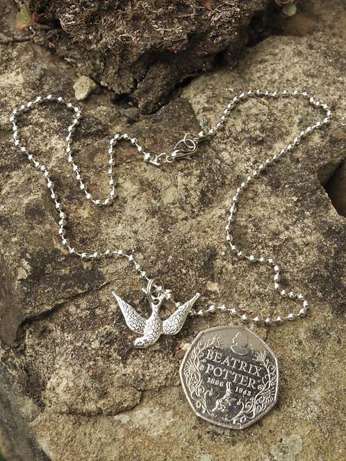 Swallow Pendant Necklace