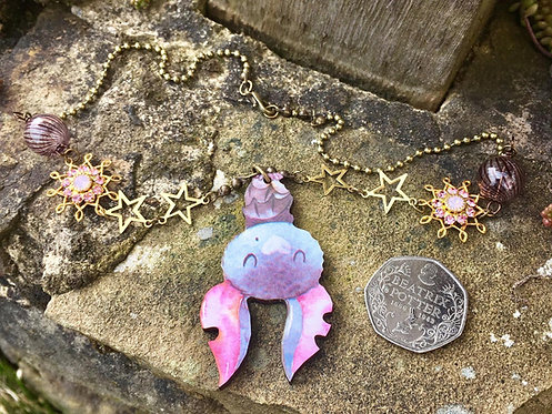 Whimsical Bat Necklace