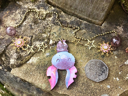 Whimsical Bat Necklace