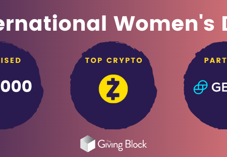 International Women's Day Goes Crypto: A cryptocurrency windfall for two nonprofits.