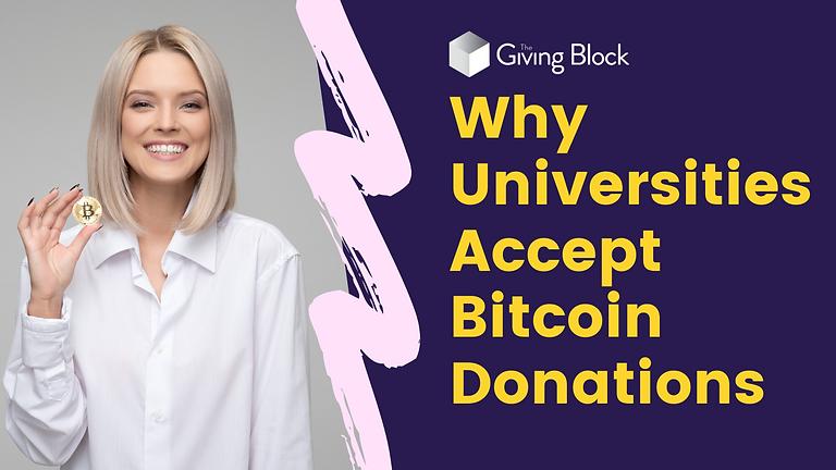 Higher Education & Bitcoin Donations