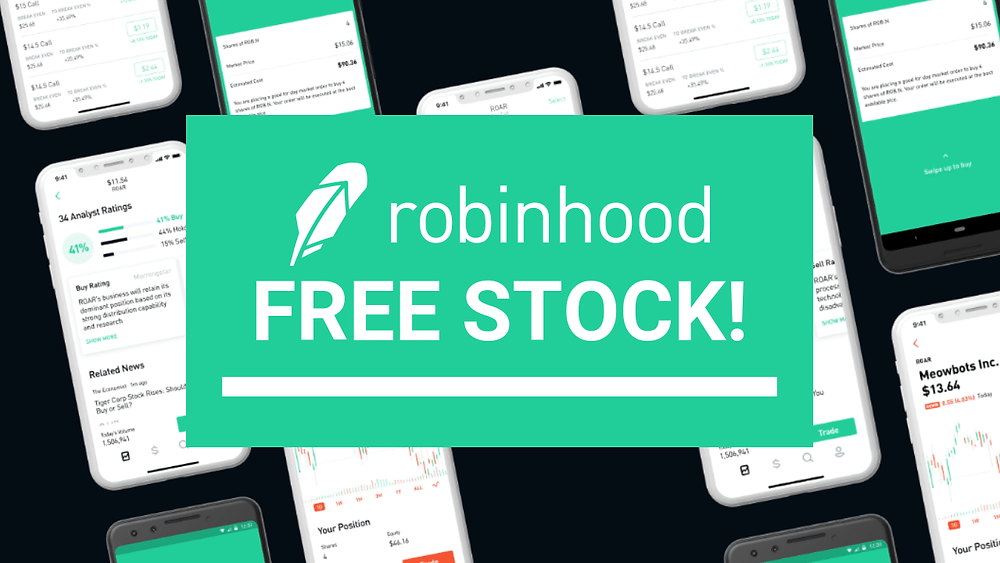 Free Stock promotion from robinhood
