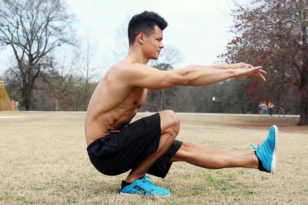 Pistol Squat bodyweight exercise for workout program
