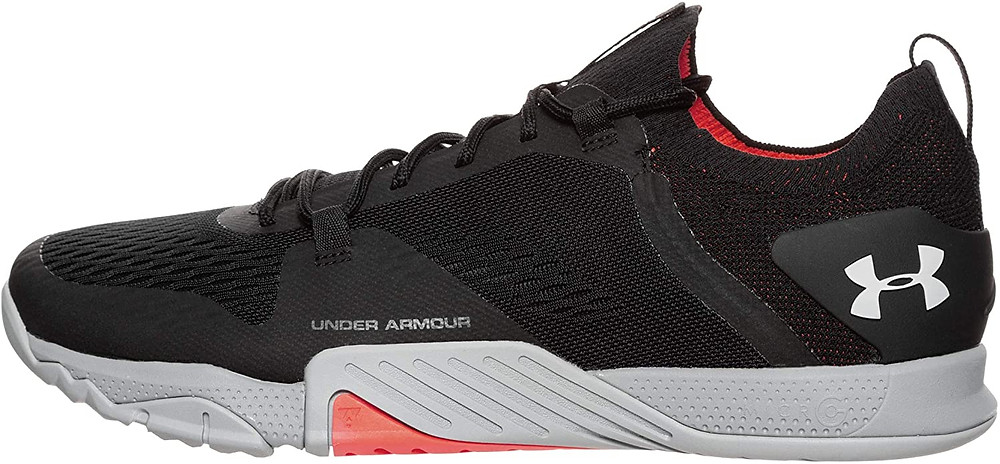 Under Armor TriBase Reign Black and Gray with Orange Highlights