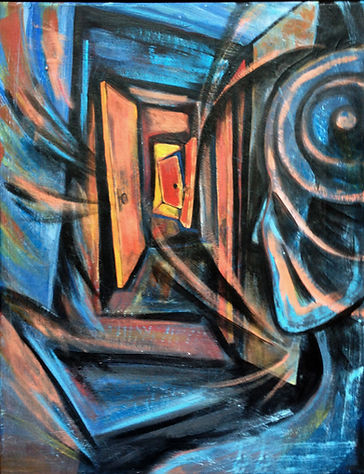 doorways, acrylic on canvas