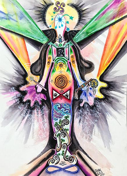 Chakra Vision Map by artist Shera DElia