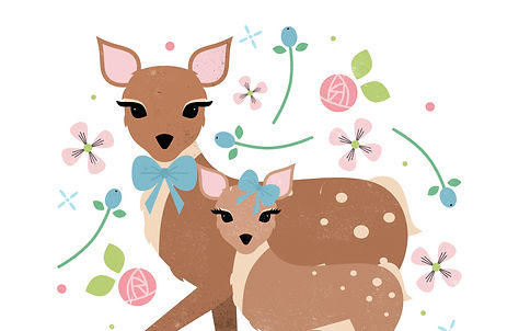 deer and fawn handmade st leonards on sea