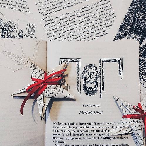 Origami Book Paper Stars~ A Christmas Carol