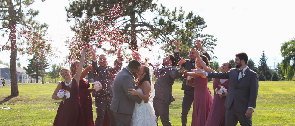 Wedding Photo in Front Yard