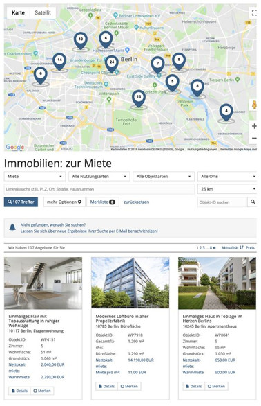 immomio homepage modul