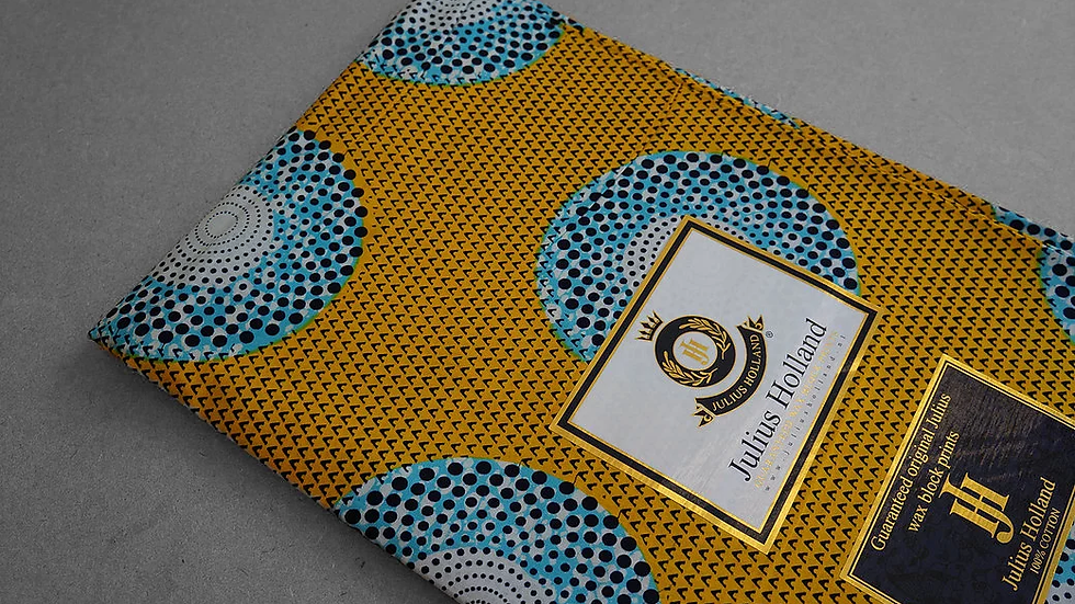 print yellow blue flower WAXBLOCK