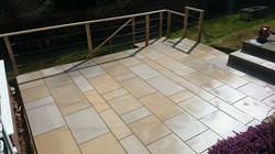 Sandstone sawn paving handrail