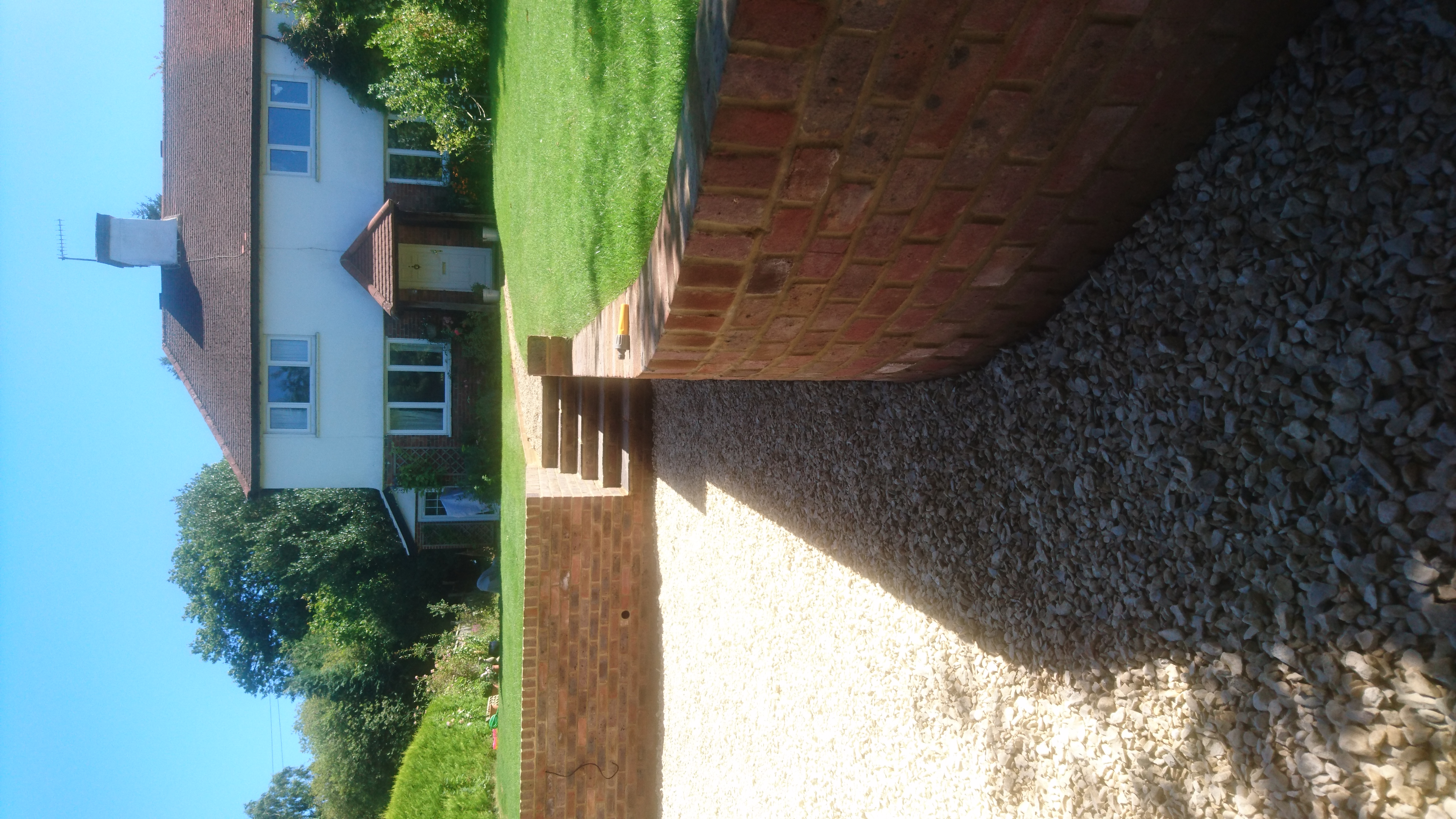 Brick retaining wall Surrey