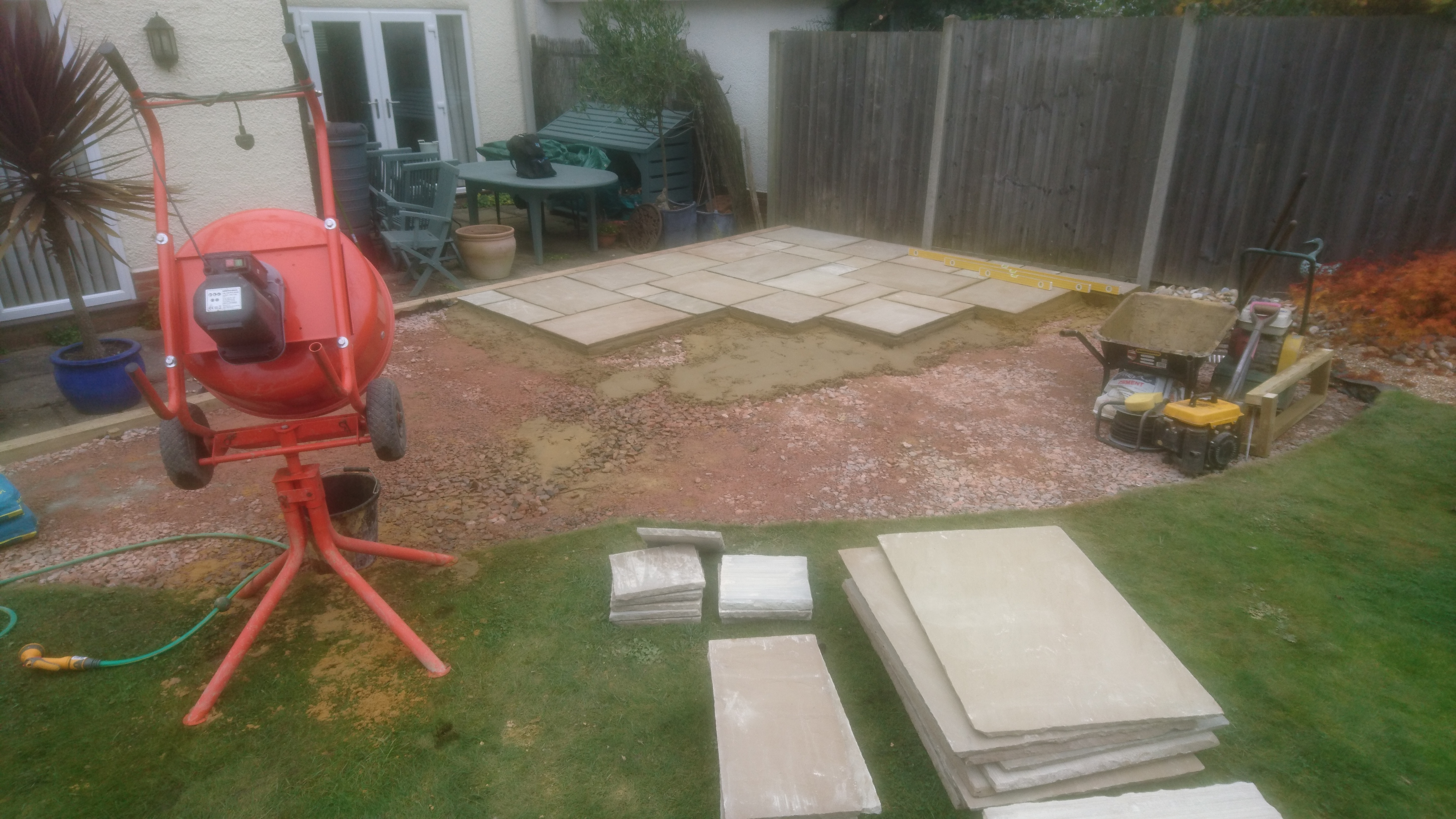 Patio construction