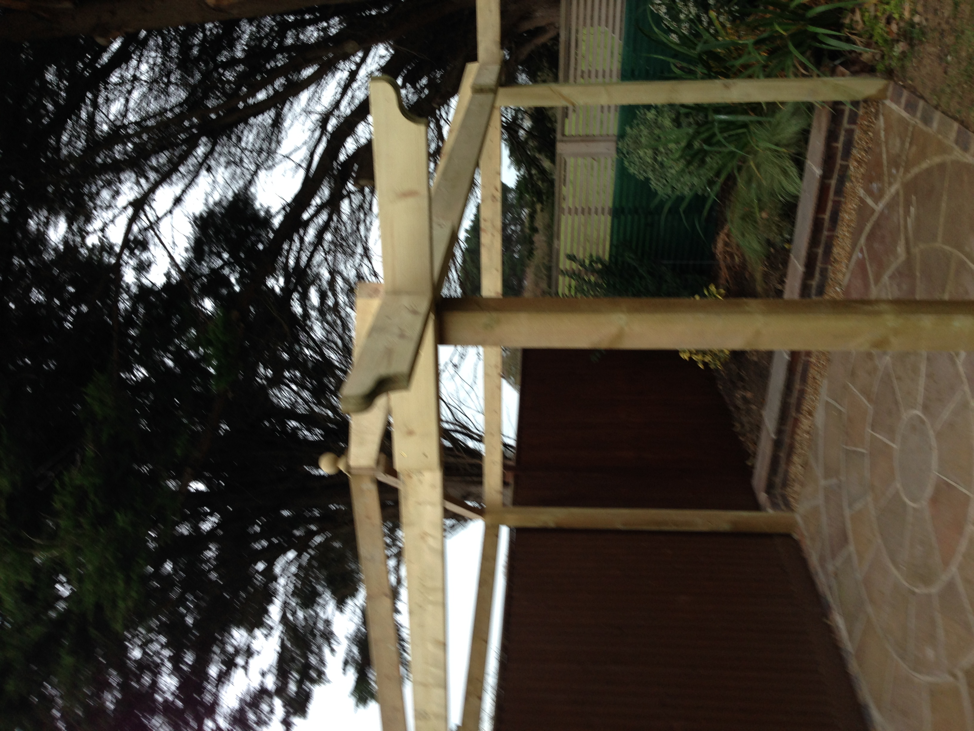 Custom pergola joinery