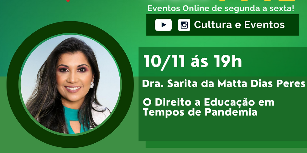 10.11.20 às 19h - Dra. Sarita da Matta  Dias Peres