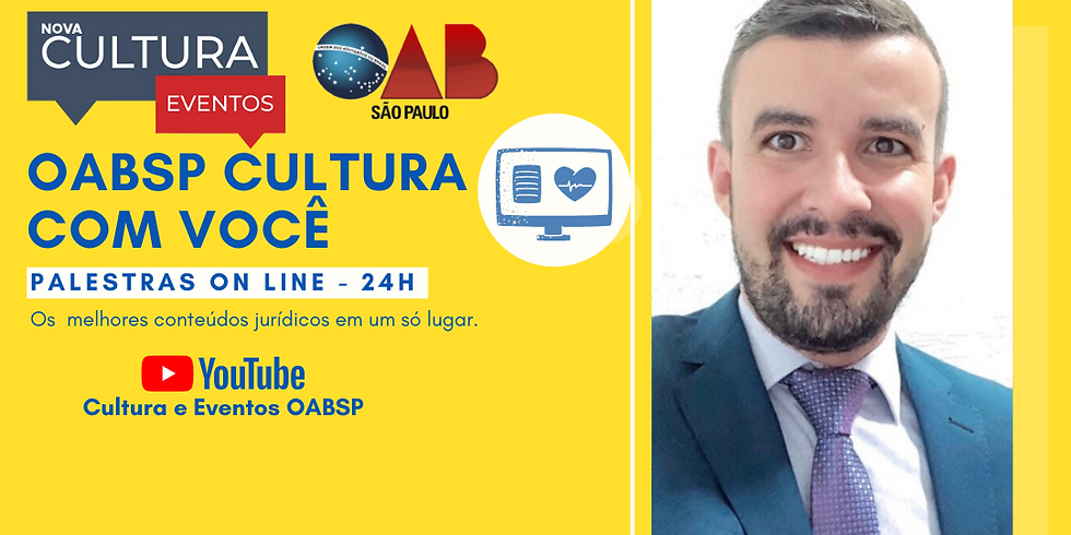 01.07.2020 às 19h   Palestra Online - Dr. Thiago Luiz Sartori