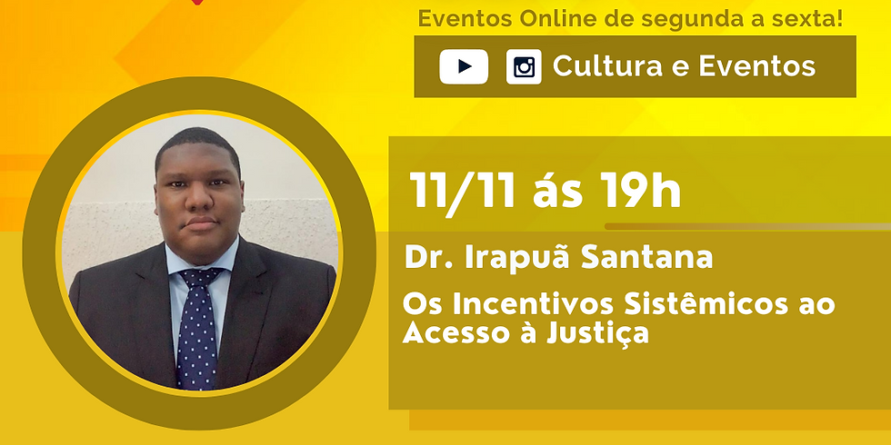 11.11.20 às 19h - Dr. Irapuã Santana