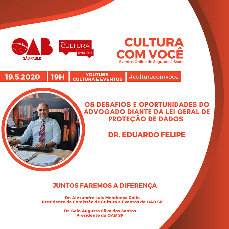 19.5.21 às 19h - Dr. Eduardo Felipe