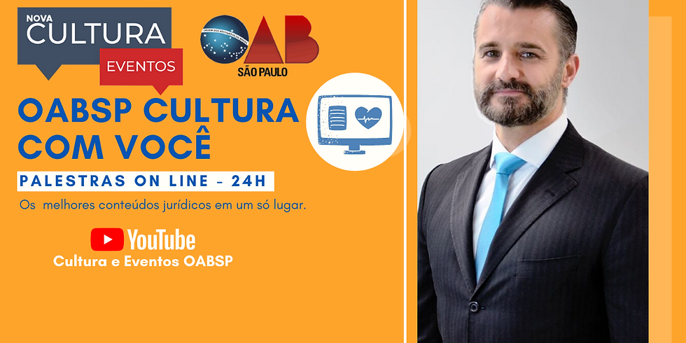 02.07.2020 às 19h   Palestra Online -  Dr. Raphael Jacob Brolio