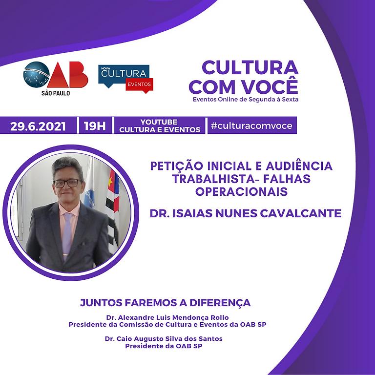 29.6.21 às 19h - Dr. Isaias Nunes Cavalcante