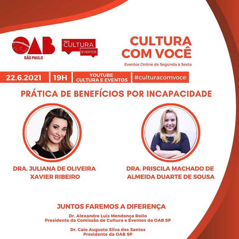 22.6.21 às 19h - Dra. Juliana de Oliveira Xavier Ribeiro e Dra. Priscila Machado de Almeida Duarte de Sousa