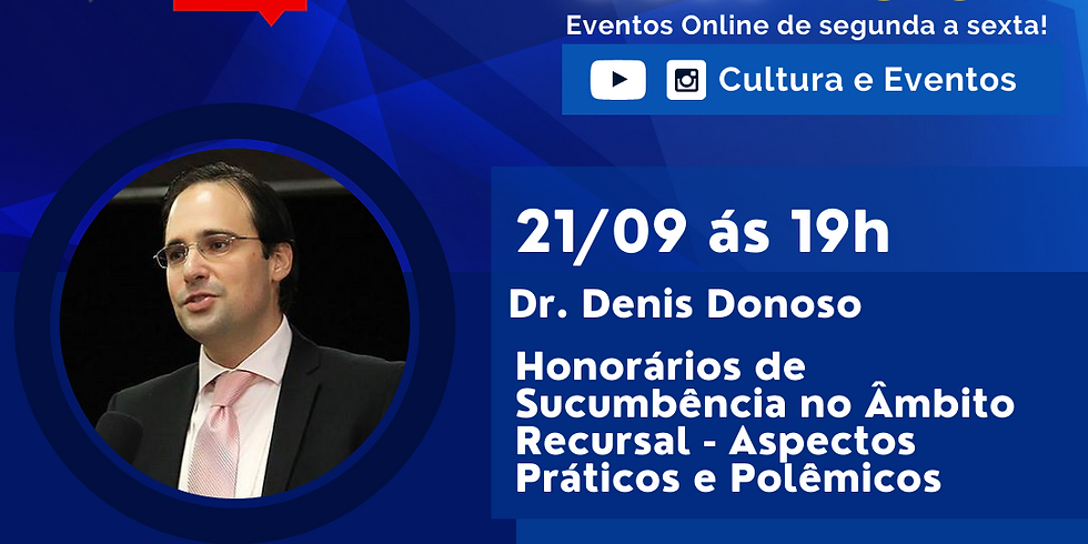 21.09.2020 às 19h | Palestra Online - Dr. Denis Donoso