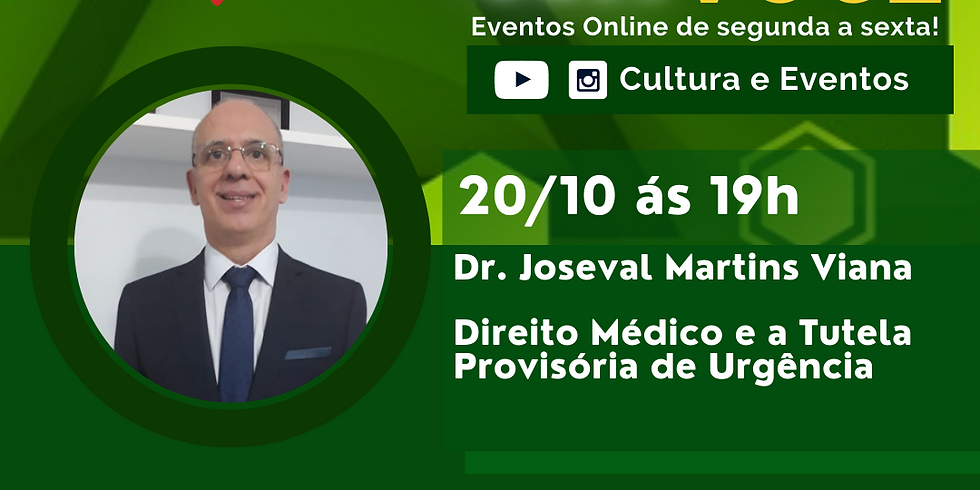 20.10.20 às 19h - Dr. Joseval Martins Viana
