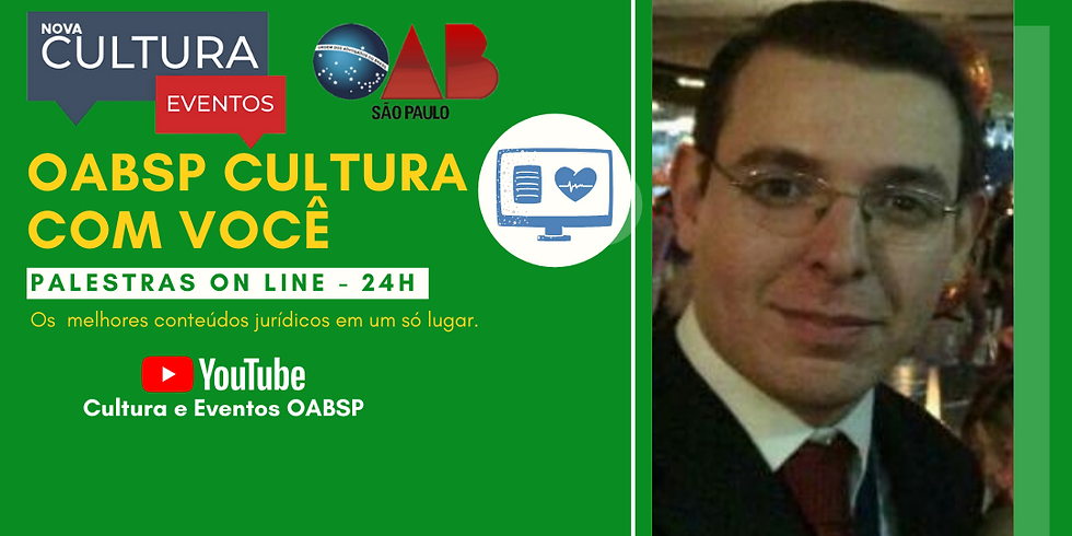 23.06.2020 às 19h   Palestra Online - Dr. Thiago Dias