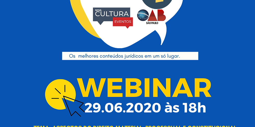 29.06.2020 às 18h | Dr. Benedito Wilson Macedo de Souza