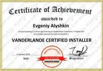 Vanderlande Certified Installer