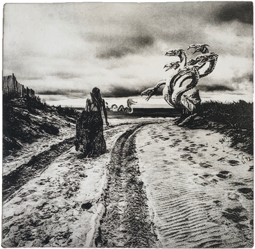'BEACH WALK' (VIEW OF HYDRA AND LEVIATHAN)