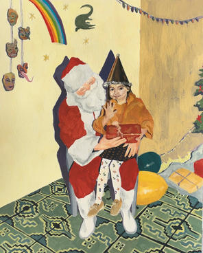 'SELFPORTRAIT WITH SANTA'