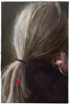 'PORTRAIT OF LADY WITH RED FLEECE ON HER BRAID'