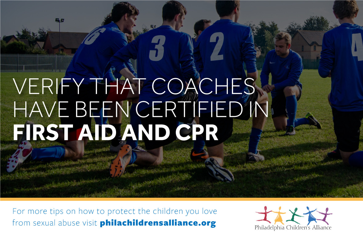 Verify That Coaches Have Been Certified In First Aid And Cpr