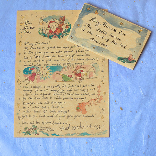 Charming handwritten Letter from father Christmas
