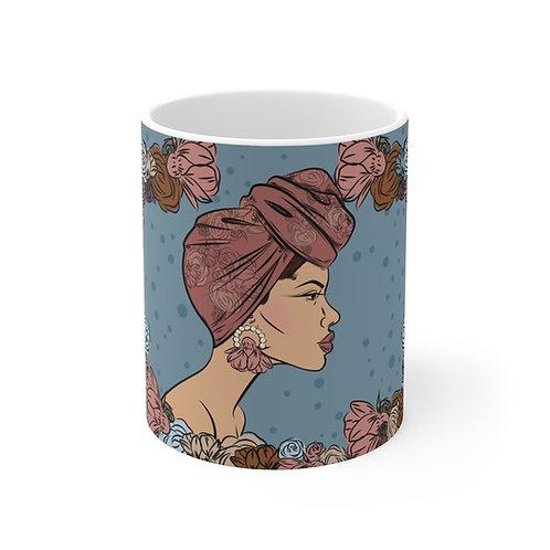 Woman with bun headwrap