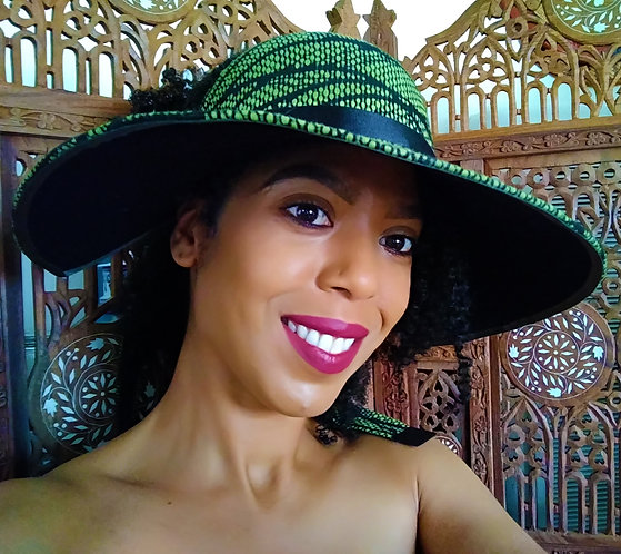 Sasha Green Wide Brim Half Cap