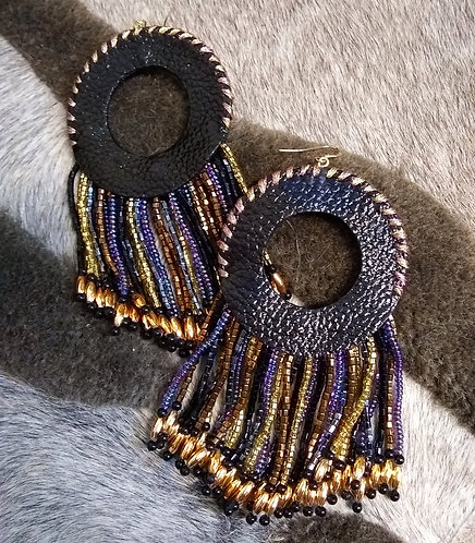 Sasha Beaded Fringe Earrings