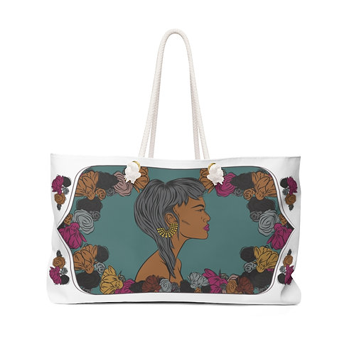 Woman With Cropped Haircut Weekender Bag