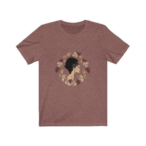 Woman In Color Curly Ponytail 2 Tee
