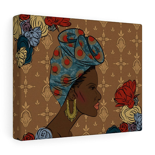 Woman With Gele Canvas Gallery Wraps