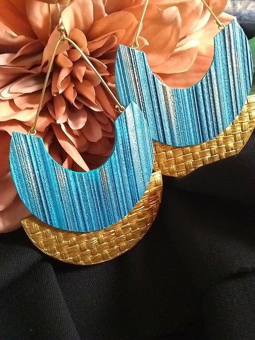 Raji Semi Disc Earrings
