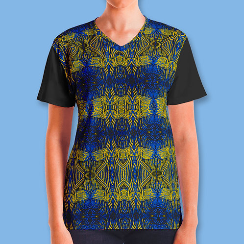 Blue Yellow Tribe Top