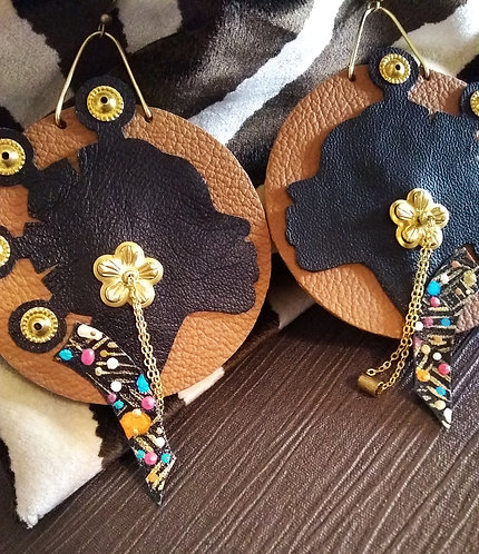 Halima Caramel Brown Leather
